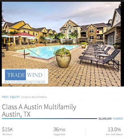 Austin, Texas real estate crowdfunding opportunity
