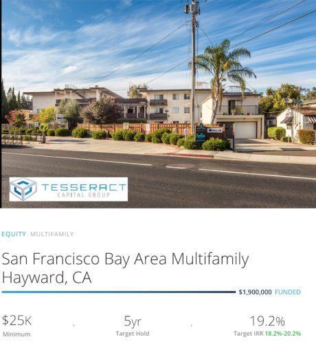 San Francisco Bay Area Multifamily Hayward, CA Investment