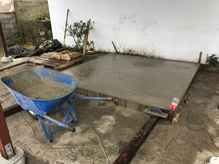 Hot tub cement platform - the cost of getting a hot tub