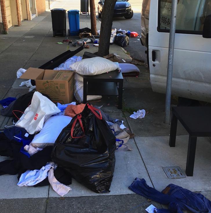 Trash explosion