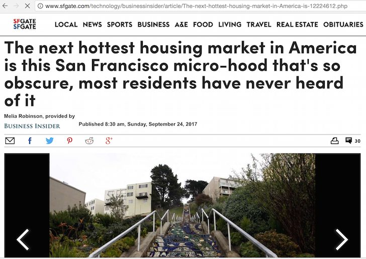 Golden Gate Heights featured in SF Chronicle and Business Insider - so much influence!