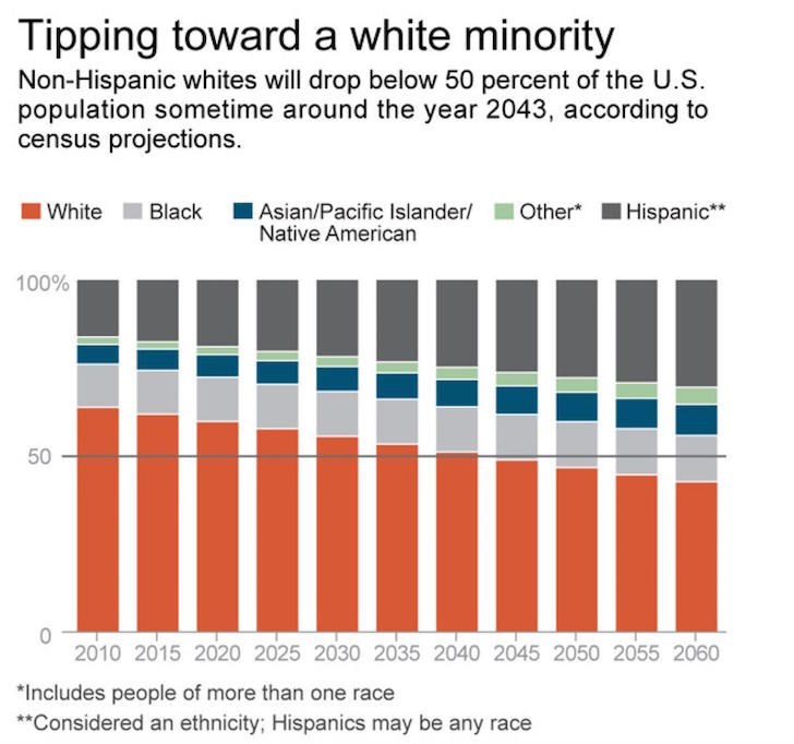 Racial Makeup By Percentage In America for Whites, Blacks, Hispanics, Asians, And Other - The Average Net Worth And Income For White Americans