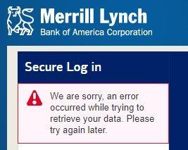 Merrill Lynch trading down