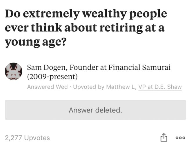 Quora randomly deletes answers