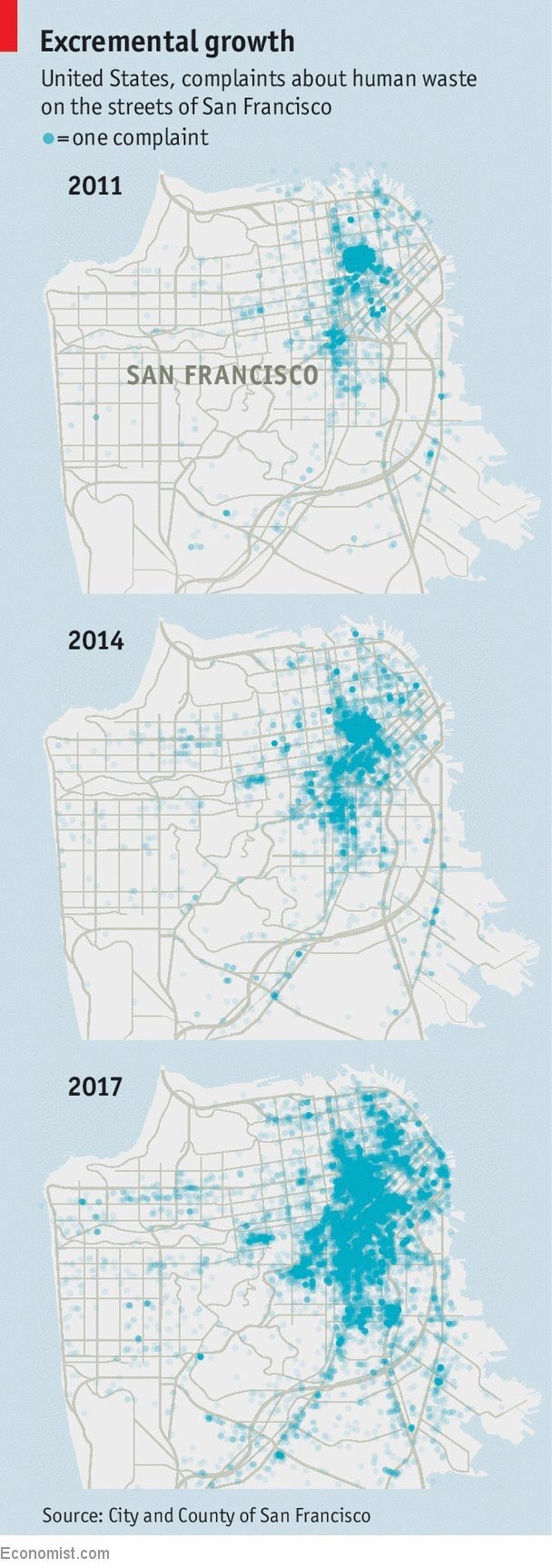 Human waste on the street grows in San Francisco