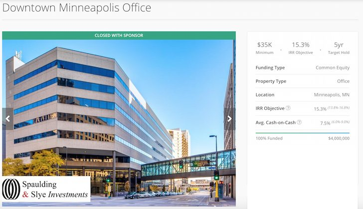 RealtyShares Minnesota Office Building Deal