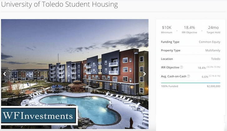 RealtyShares Toldeo Multi-Unit Housing Deal