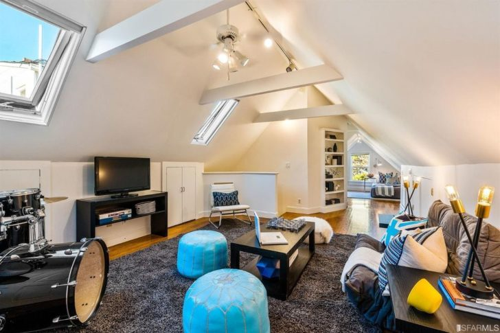 Amazing remodeled attic for man cave, play room, or teenager room