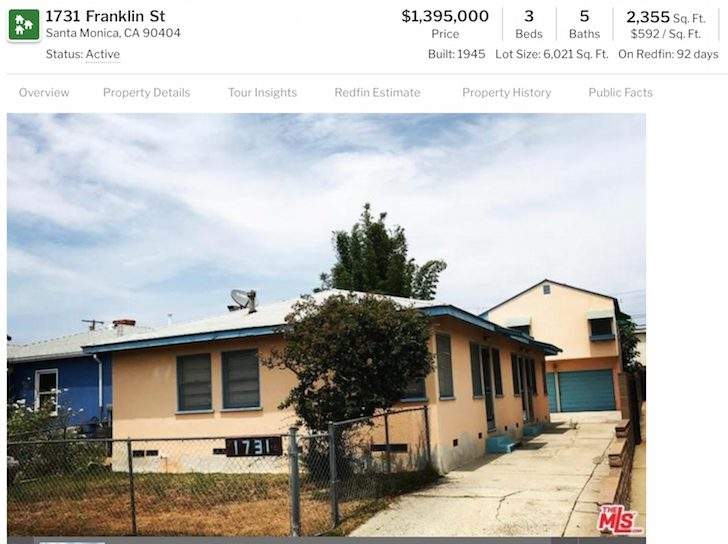 Santa Monica house for $1.4 Million is very average looking - Retiring early on $5 million is tough