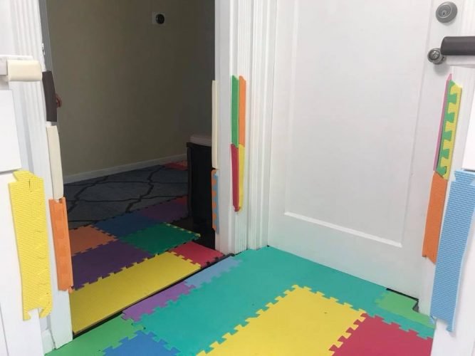 Baby proofing the house