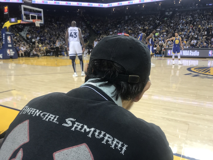 Floor seats at Warriors game versus Timberwolves on Nov 2, 2018