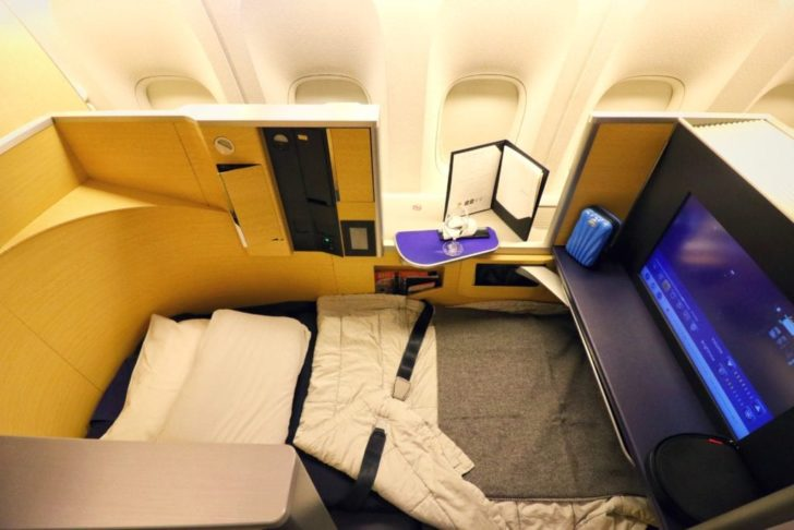 Flying first class on All Nippon Airways (ANA) using the Chase Business Ink Unlimited Credit Card