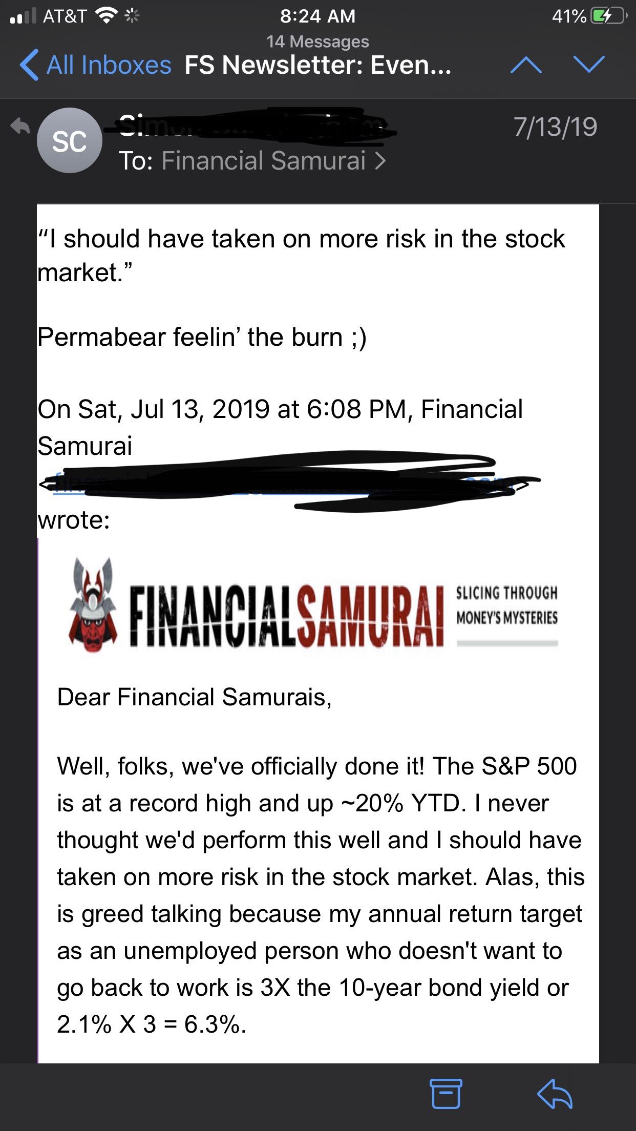 Making fun of Financial Samurai