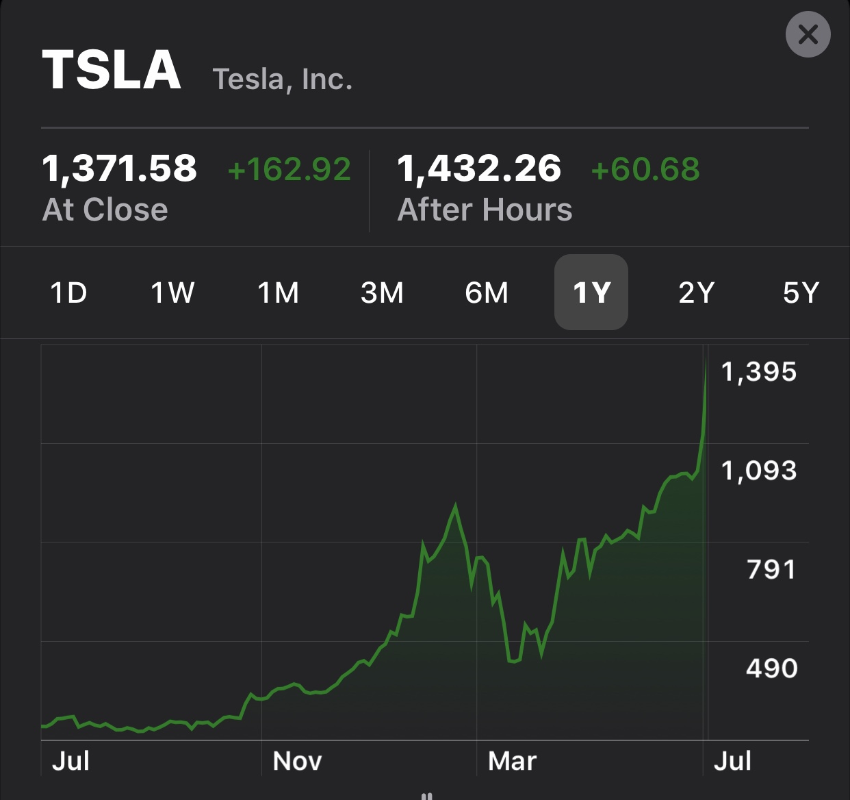 Tesla stock - fortune hunting