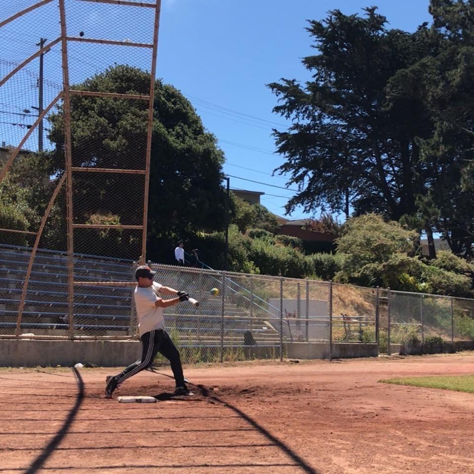 Hitting a softball
