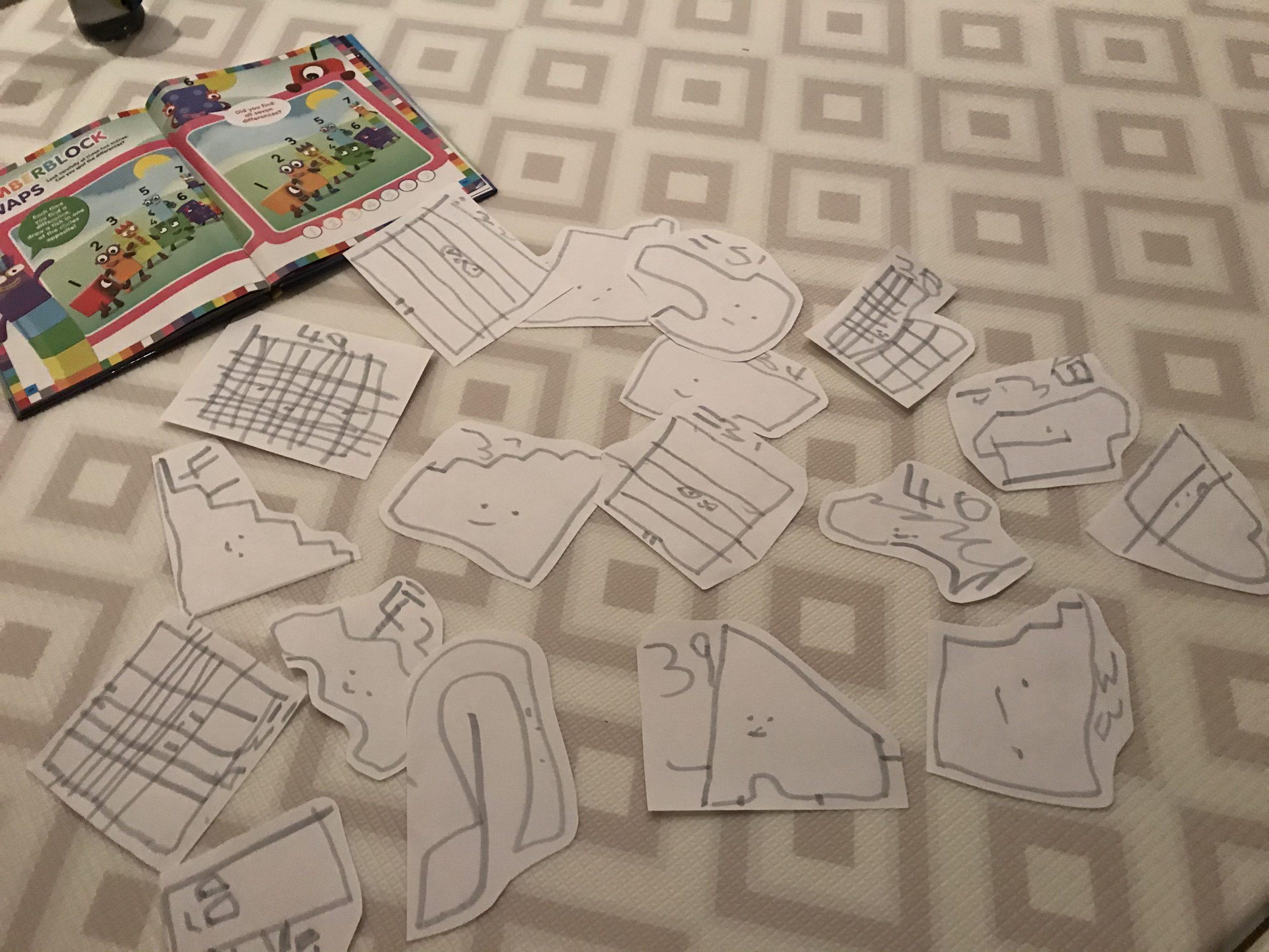 Frugal toys can be drawn on paper, which is great practice for preschoolers