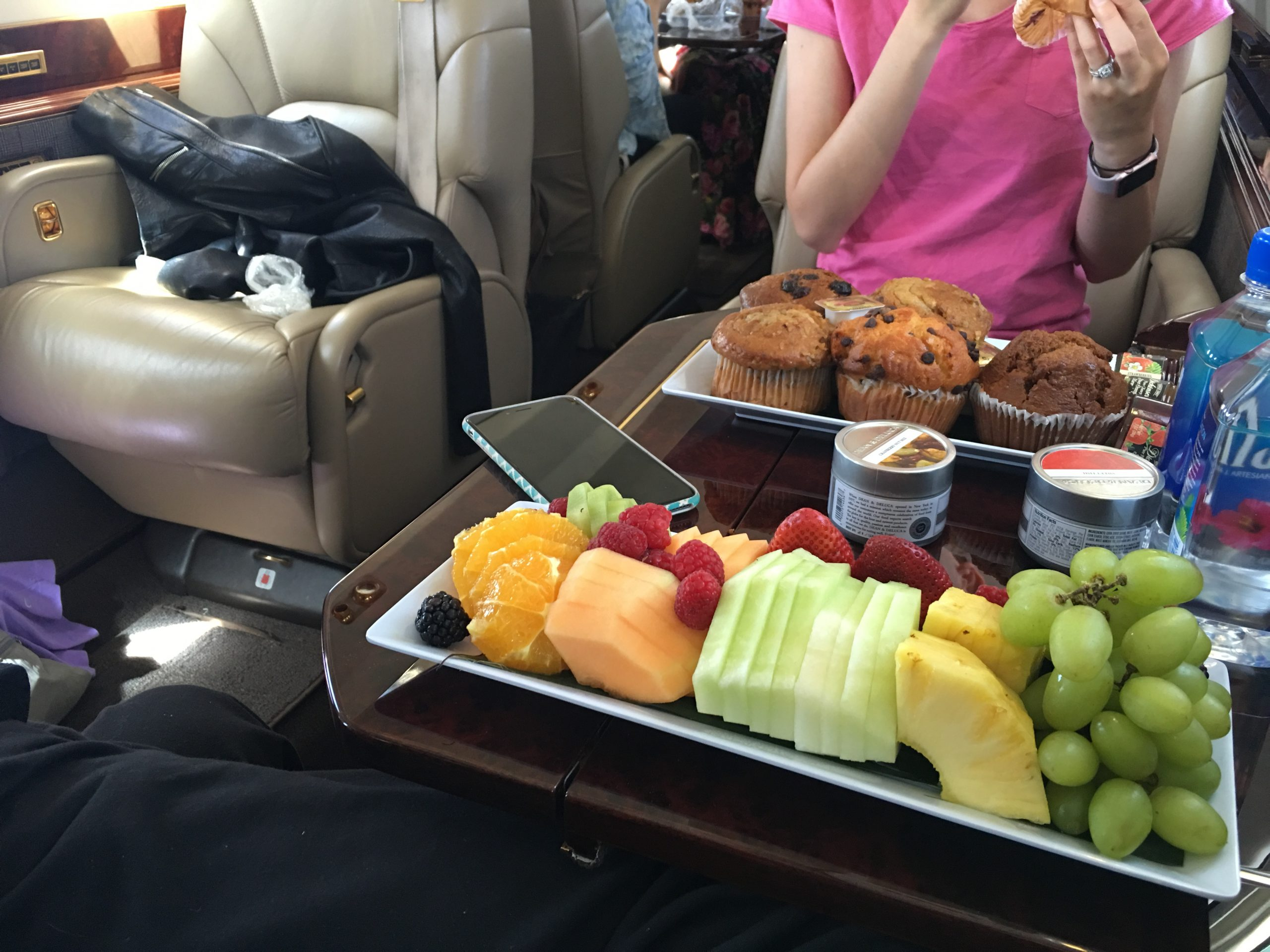 What is the food like flying private