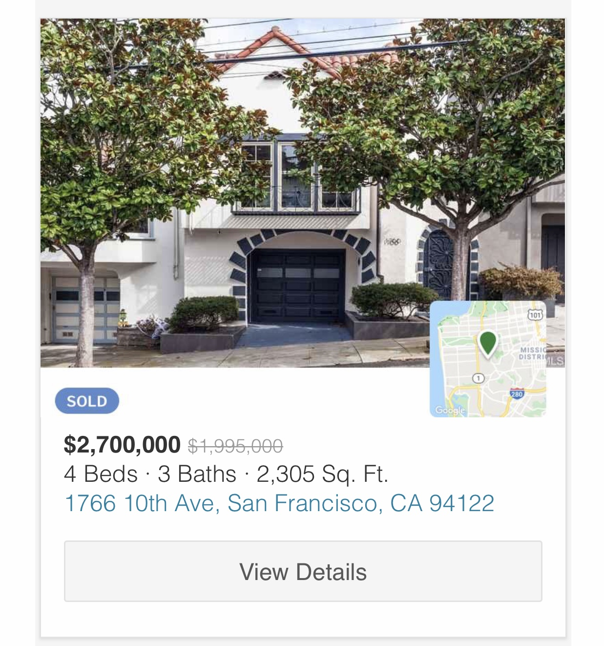 November 2020 property sale in San Francisco