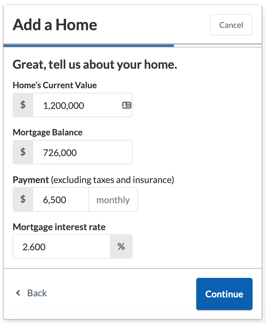 NewRetirement Review - Home calculator