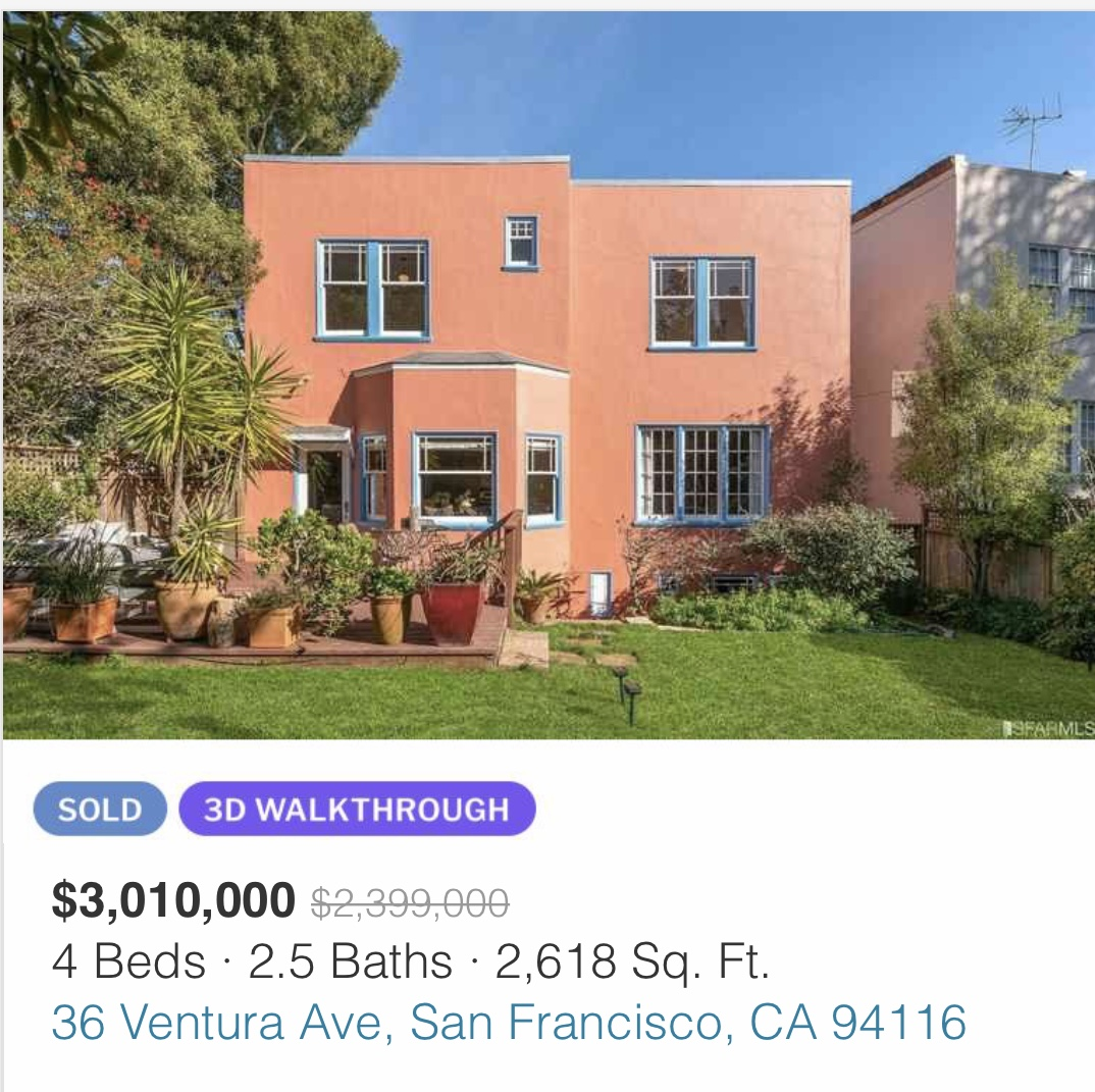 real estate outperformance examples in San Francisco during the pandemic