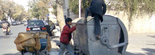 Waste pickers put their lives at risk by diving into unsanitary trash bins.