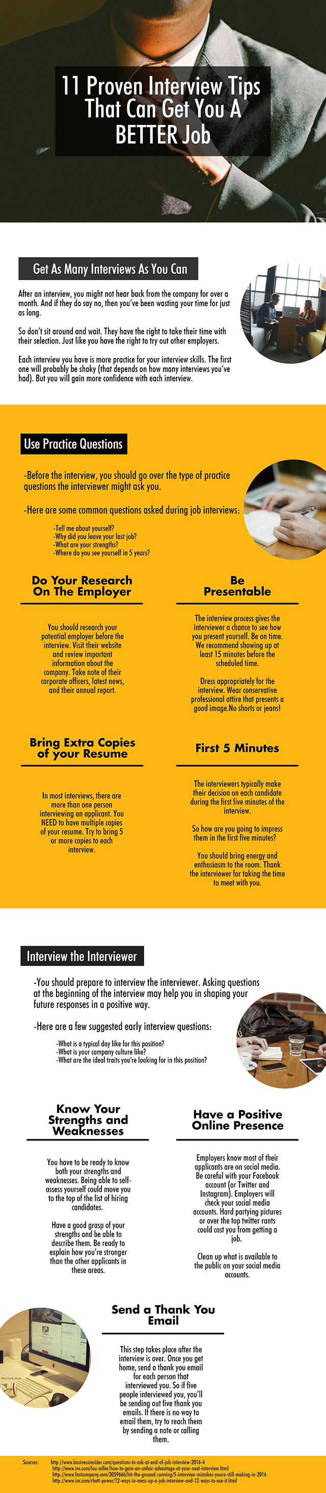 11 Proven Interview Tips - Infographic