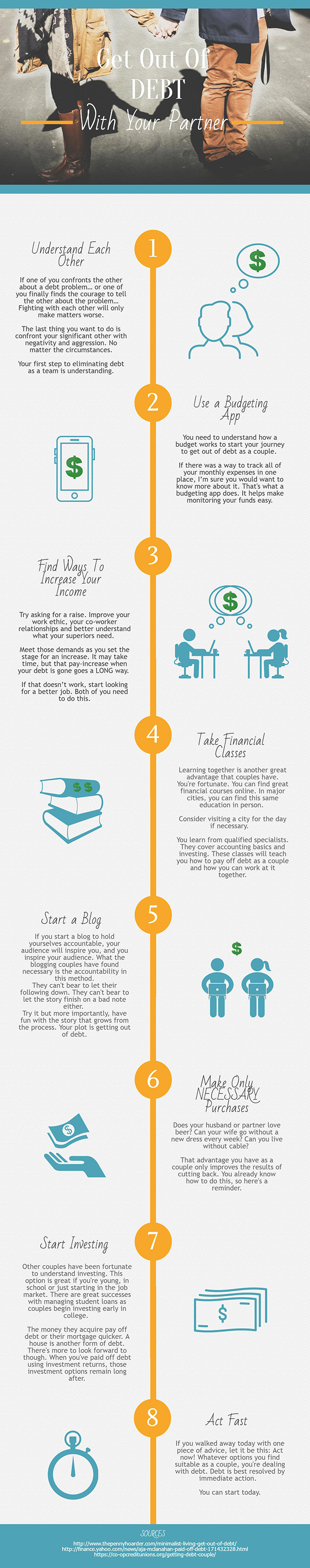 Get Out of Debt With Your Partner - 1Infographic