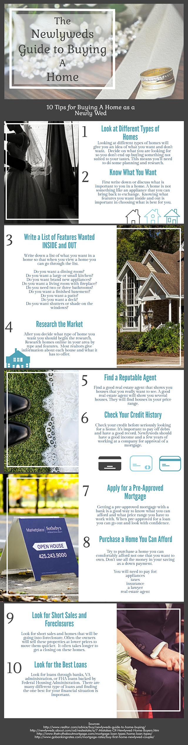 First Time Buying A Home Newlyweds - Infographic