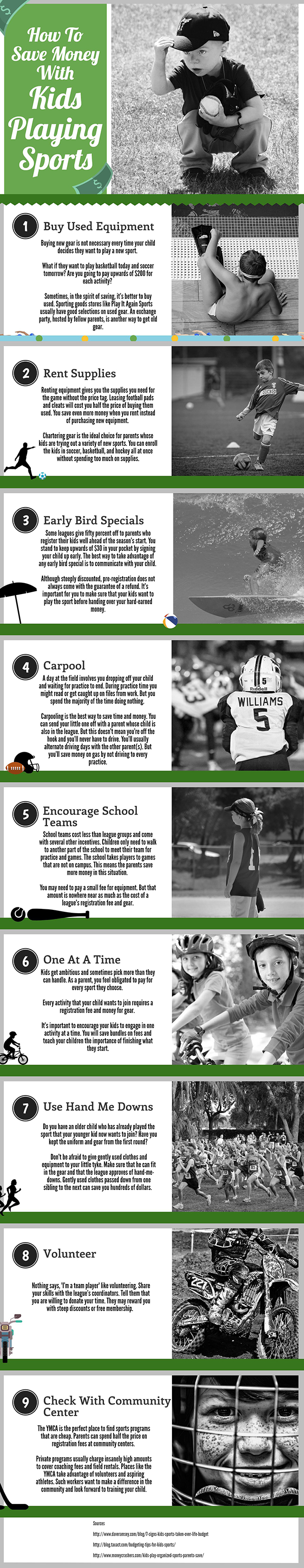 How To Save Money With Kids Playing Sports - Infographic