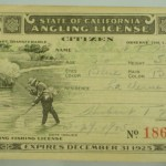 1925 California Fishing Liscense