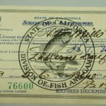 1931 California Antique Fishing License