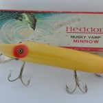 Heddon Musky Vamp Red and White in Box