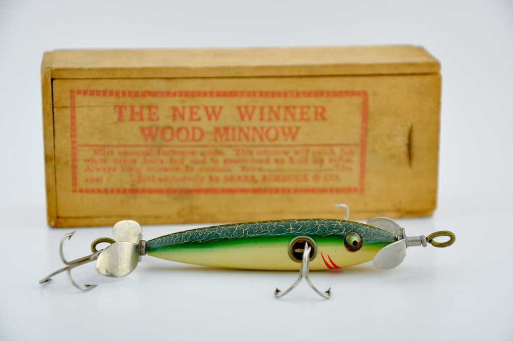 New Winner Wood Minnow Lure - Fin & Flame Fishing for History