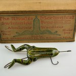 Rhodes Mechanical Frog Lure in Wood Box