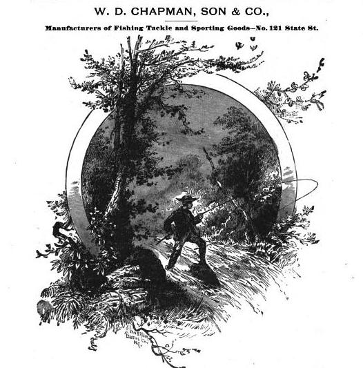 WD Chapman 1888 Lure Maker Rochester NY