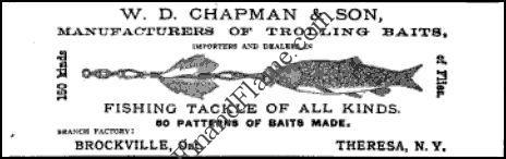 WD Chapman Brockville Ontario Lure Ad