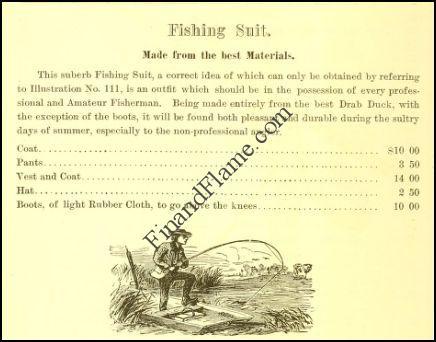 Antique Fishing Attire 1875