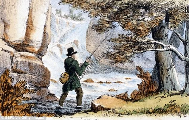 19th Century Fly Fishing Illustration