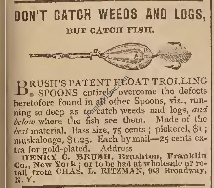 Brush Trolling Spoon 1880 Ad