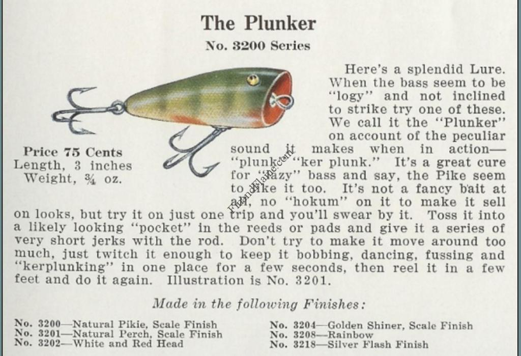 Creek Chub Plunker Catalog Cut