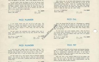Pico Lure Sales Sheet