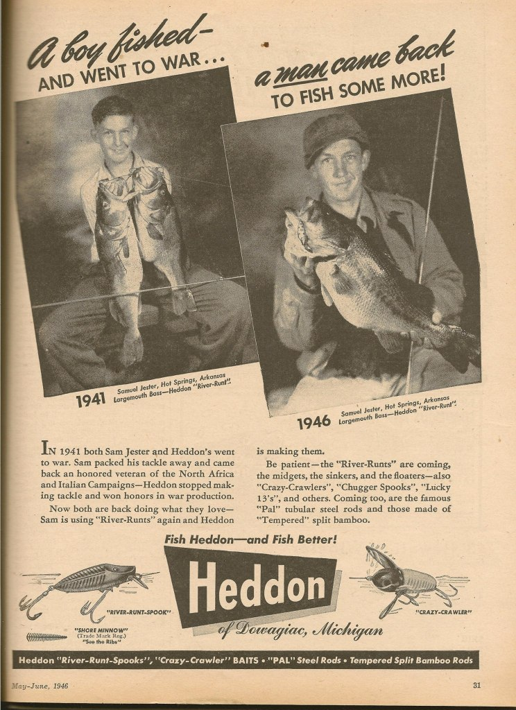 Heddon Lure Memorial Day Ad
