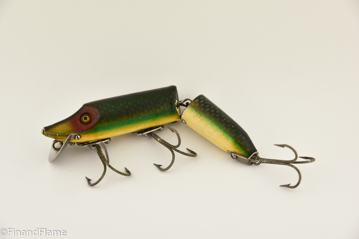 Heddon Green Scale Jointed Vamp Lure