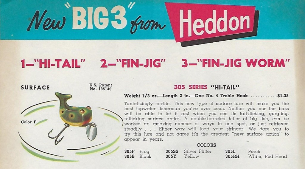 Heddon Hi Tail 1960 Lure Catalog