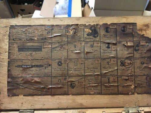 RARE Reel Parts Repair Wooden Box 1940's Shakespeare TRIUMP 1958 Antique  Display