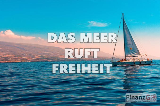 Das segelt auf dem Meer ist pure Freiheit