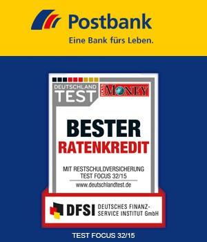 Von der Postbank, den besten Ratenkredit.