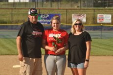 James River's Payton Kreklow with parents Paul and Dana Kreklow.
