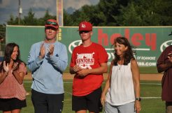 Luke Hale of the Cavaliers with parents Rusty and Mary. [PHOTOS: Brian Hoffman]