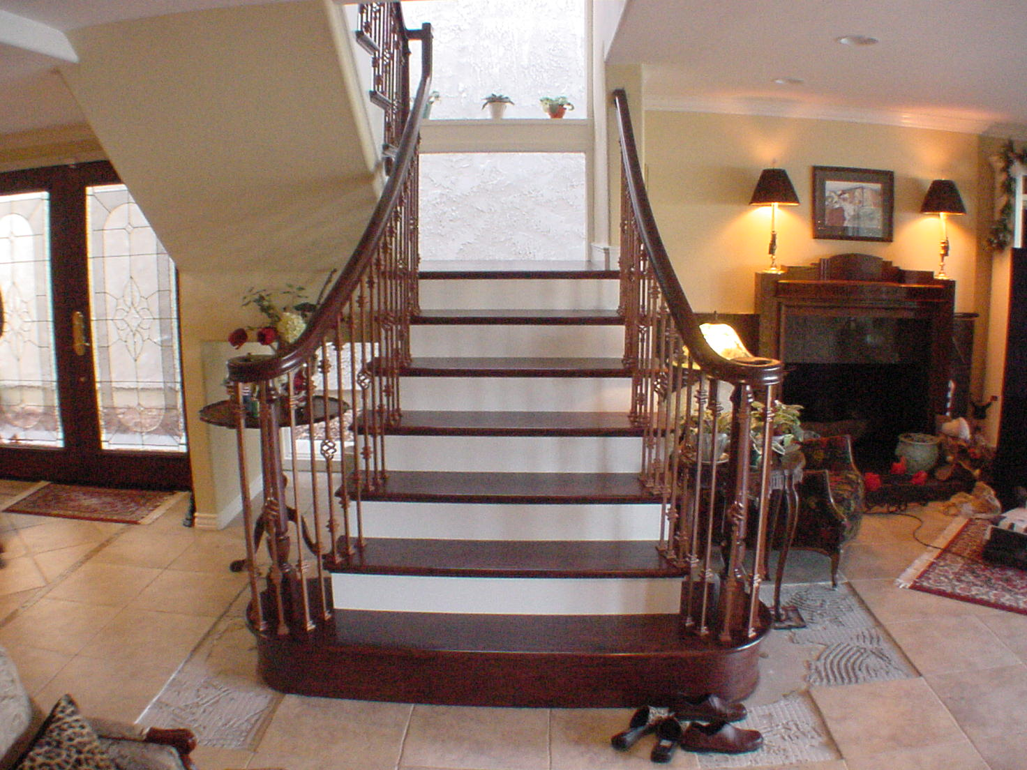 Wood Stair Railing In Newport Beach And Your French
